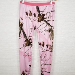 Realtree Women's Size XL Pink Camo Leggings Pants